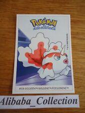 POKEMON dunkin boomer trading card sticker 2000 Carte # 118 GOLDINI POISSIRENE