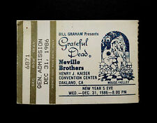 Grateful Dead Ticket Stub New Years Eve 1986 1987 12/31/1986 Mouse Kelley GDTS