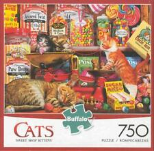 Steve Read Buffalo Games 750 Piece Jigsaw Puzzle Sweet Shop Kittens NIB
