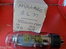 El37 mullard jaune imprimé fond noir new old stock Valve Tube o15a
