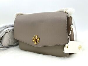 AUTH NWT $428 Tory Burch Kira Mixed Leather Suede Double Strap Shoulder Bag