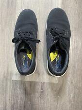 Skechers Air Cooled Memory Foam Black Canvas Lace-Up Shoes Men's 10.5Classic Fit