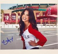 LA Kings & Angels TV Host ALEX CURRY Autograph Signed 8x10 Photo #3 w/ Proof Pic