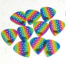 Pickboy Guitar Picks Pro Pos-a-grip  .75mm Medium 10 Pack Celluloid Rainbow