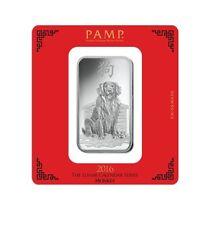 Silberbarren 100g Pamp Suisse Hund silver bar Dog 100 g 999 Silber Lunar