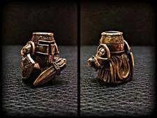 Templar Bronze Paracord Knife Leather Lanyard Bead / Beads Handmade New