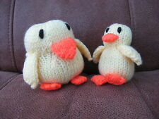 Carefully Hand Knitted Mother & Baby Chick