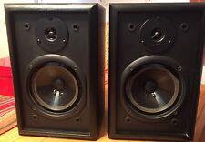 Pair Of Vintage Infinity RS125 Bookshelf Speakers Functional But needs foam