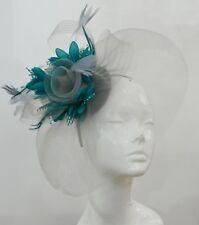 90c74814af01f Bespoke Feather Hair Fascinator Hat Veil Headband Clip Wedding Ascot Races