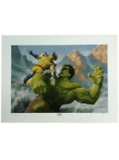 Sideshow Collectibles Hulk Vs Wolverine Premium Art Print Marvel Sample
