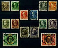 Bay42w) Bayern 1862 , Michel Nr. 92-93,94-105 I,  gestempelt, MK 98,90 €