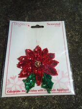 Elegance Seasonal Accents Christmas Sequin & Bead Poinsettia Appliqué