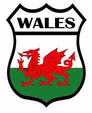 2 x Wales Flag Decal Car Motorbike Laptop Window Sticker Static Cling