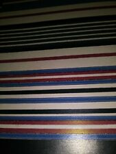 "New ListingVtg Stripes Wrapping Paper Gift Wrap One Sheet Unused 30""X20"""