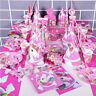 Kinder Einhorn Theme Birthday Party Supplies Gunst Geschirr Dekor Geschenk Set