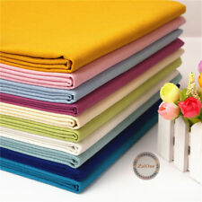 Plain Solid Cotton Linen Fabric Upholstery Sewing Cloth Crafts Curtain Material