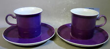 Pair Japanese fine china cups and saucers