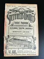 SHEFFIELD UNITED  V SUNDERLAND 1908/09