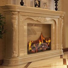 9Pc Ceramic Home Fireplace Imitation Wood Propane Log Set Thermostability 1.6lbs