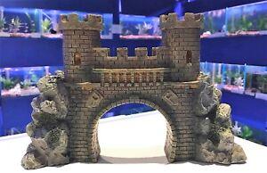 Castle Bridge with Turrets 29cm Aquarium Fish Tank Arch Ornament BR1