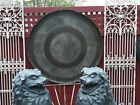 Large Antique Asian Indian Brass Tray or Table Top
