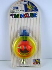 Mirror Beads Cup & Bell Wobble Circle Perch Penn Plax Twinkler NOS 1995 BAT528 2