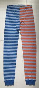 HANNA ANDERSSON Pajama Pants Size 150 (12)~ Blue & Orange Stripe ORGANIC COTTON!