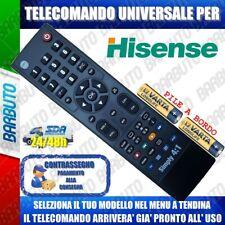 TELECOMANDO UNIVERSALE HISENSE: CLICCA SUL TUO MODELLO LO RICEVERAI GIA PRONTO