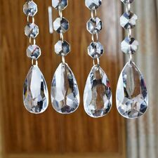 12pcs Acrylic Crystal Clear Bead Garland Hanging Chandelier Wedding Party Decor