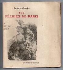 GUSTAVE COQUIOT LES FEERIES DE PARIS 1909 EO SUR JAPON DESSIN DE RUPERT CARABIN