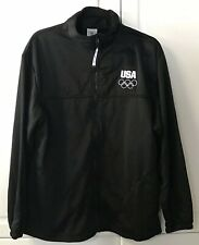 United States Olympic Committee Team USA Full Zip Track Jacket Black Men's Large