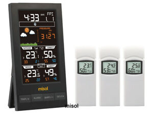 MISOL/Wireless weather station with 3 sensors, 3 channels, color screen