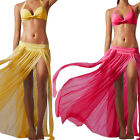Retro Women Chiffon Boho New Long Maxi Dress Elastic Waist Skirt 4 Colors CA