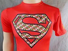 Under Armour Sz M Compression Md university football Shirt Superman s31-pb19