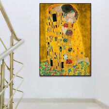 YA1153 Gustav Klimt style figure oil painting Kiss Hand-painted Unframed