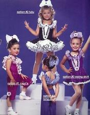 Opening Act Dance Costume FUCHSIA LEOTARD and LONG PANTS Clearance Child Medium