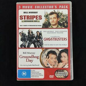 Stripes, Ghostbusters,  Groundhog Day Bill Murray 3 Movie DVD Set Region 4
