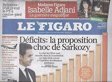LE FIGARO N°20466 21 MAI 2010 DEFICITS/ JAGGER/ FEDERER&NADAL/ MAYA/ IMMO MAROC