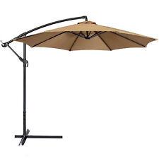 Bcp Outdoor Patio Umbrella 10 Feet Offset Sun Shade   Beige