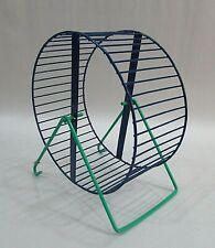 "Vintage Blue Green Steel 7"" Pet Hamster Mouse Gerbil etc Exercise Wheel Free S/H"