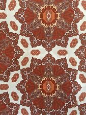 "Cynthia Rowley Medallion Rust, Ivory Medallion Window Curtain Panel Pair 52""x96"""