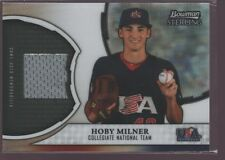 HOBY MILNER 2011 BOWMAN STERLING USA ROOKIE JERSEY PATCH RC SP $12