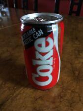 VTG 80s Coca Cola Classic Recyclable Plastic Can Original Formula Coke 12 Pepsi