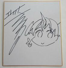 Anime Expo 2016  ORIGINAL SKETCH SIGNED  Shikishi Art Board  ERECT SAWARU  Rare!