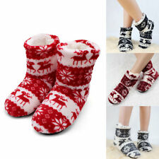 Indoor Warm Winter Shoes Soft House Slippers Plush Slip Men Women Home Boot