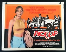 Original 1975 PICK-UP Half Sheet Movie Poster 22 x 28 SEXY HITCH HIKER