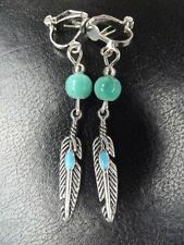 Unbranded Feather Clip - On Costume Earrings