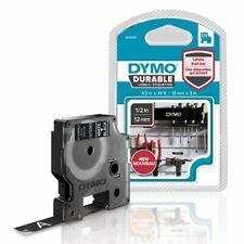Dymo 1978365 D1 Durable Label Refill 12 12mm White On Black Dym1978365