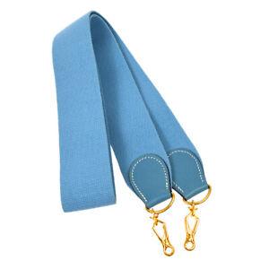 HERMES Shoulder Strap For Evelyne Light Blue Canvas Handbag Accessories JT06187c