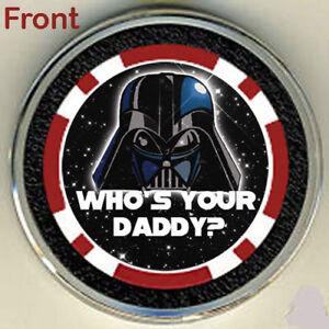 #0 STAR WARS DARTH VADER POKER CHIP CARD GUARD COVER NB